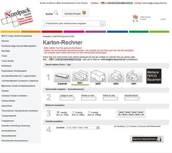 www.nordpack24.de - Karton Kalkulationstool