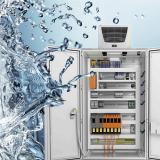 The PU foam gaskets Fermapor® K31 seal off switch cabinets against moisture, splash water and dust