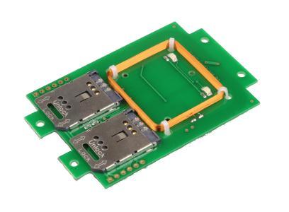 TWN4 Multifrequenzleser (125kHz und 13,56MHz in einem) mit 2 SAM-Sockeln / Foto: Elatec