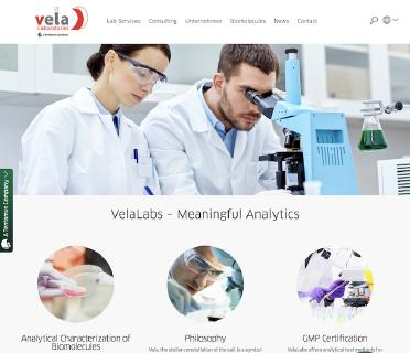 VelaLabs goes online with a new website