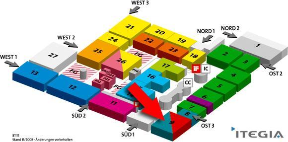 CeBIT Hallenplan, Stand ITEGIA, Quelle: Deutsche Messe AG, ITEGIA GmbH