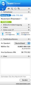 Screenshot TeamViewer für Mac (www.teamviewer.com)