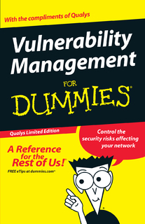 "Qualys Publishes ""Vulnerability Management For Dummies"" At Infosecurity Europe"