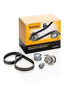 Original quality giving workshops security: the timing belt kits with water pumps from ContiTech (Photo: ContiTech)