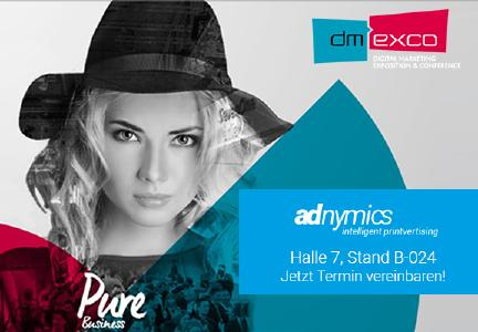 dmexco2017 Adnymics in Halle 7 Stand B 024