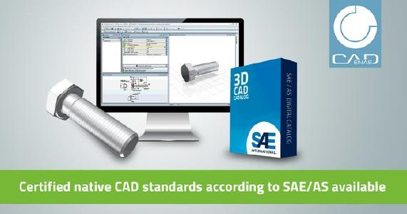 Certified SAE/AS native CAD standards: 3D parts models for Dassault SOLIDWORKS