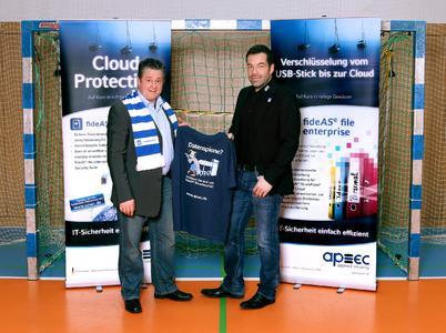Mathias Horn (links), Director Operations & Projects bei apsec, und TVG-Geschäftsführer Marco Seemann