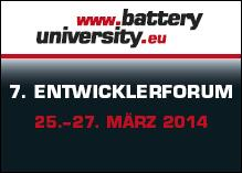 7. Entwicklerforum Akkutechnologien der batteryuniversity.eu informiert drei Tage über die neuesten Branchentrends