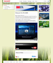 High Technology & Super Green: Sharp startet europäische IFA Webkampagne