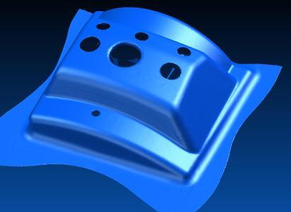 Von einem gezogenen Blechteil CAD-Flächen ableiten