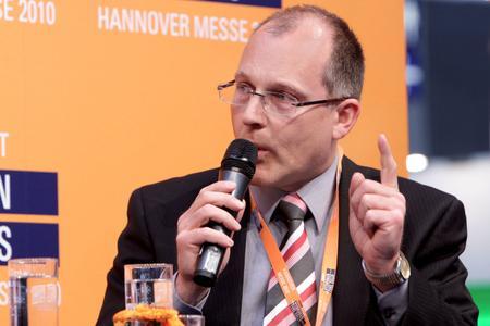 Guido Gummert, Geschäftsführer der Baxi Innotech auf der Hannover Messe 2010
