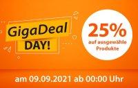 Nur 24 Stunden: 25% Rabatt auf ausgewählte Produkte am GigaDeal Day 2021