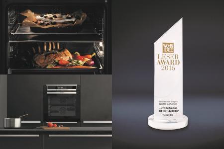 Innovativ: Im Divide & Cook Ofen können zeitgleich zwei Gerichte zubereitet werden (© Grundig Intermedia GmbH)