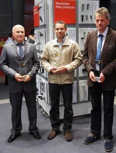 Die Gewinner Bernd des Deutschen Normteile Awards 2013 (v.l.n.r.) Bernd Weißkopf, Stefan Arzenheimer und Martin Möller