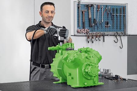 Green Point UK features special testing systems which allow BITZER to precisely analyze compressor efficiency