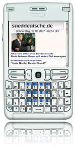 Startseite mobil.sueddeutsche.de Nokia E61
