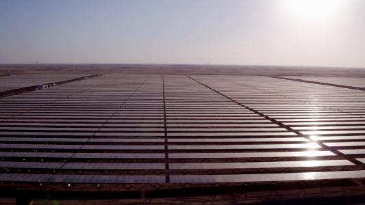 Aerial picture of Benban solar power plant by ib vogt GmbH, Infinity Solar S.A.E.