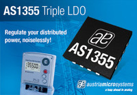 austriamicrosystems introduces a new triple linear regulator optimized for noise sensitive distributed power