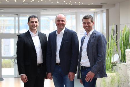 Die neue Geschäftsleitung der Jauch Quartz GmbH: (von links) Daniel Panzini, Andreas Nann und Steffen Fritz