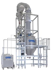Solvent recycling plant ASC-3000 with reflux column