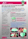 Anleitung zur richtigen Handhabung eines medizinischen Mundschutzes/Mund-Nasenschutzes