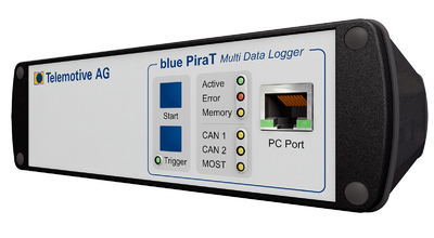 New: Telemotive AG provides with the new MOST50 data logger (incl. Single Wire CAN and ECL) solutions for all MOST standards