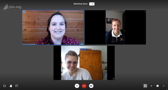 Videochat via Jitsi Meet