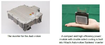 Hitachi Automotive Systems' EV Inverter Adopted for the e-tron, Audi's First Mass Production Electric Vehicle.