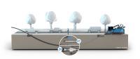 Schematische Darstellung der Rohrverlegung im gesteuerten Horizontalspülbohrverfahren (HDD)