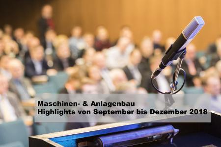 Maschinen- und Anlagenbau: Neue Veranstaltungen und aktuelle Termine (Quelle: VDI Wissensforum GmbH)