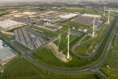 Luftaufnahme BMW Werk Leipzig, Foto: Christoph Busse