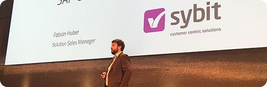 Fabian Huber, Solution Sales Manager bei Sybit, freut sich auf ein abwechslungsreiches Programm und interessante Gespräche am Messestand