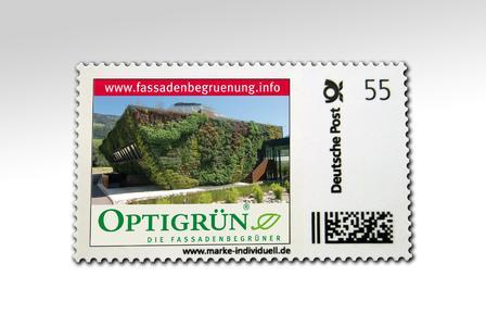 Hier ist sie – die erste Briefmarke zur Fassadenbegrünung in Deutschland