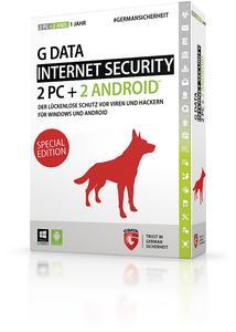 Mit der G DATA INTERNET SECURITY Sonderedition 2+2 sind gleich vier Geräte umfangreich vor allen Gefahren des Internets abgesichert.