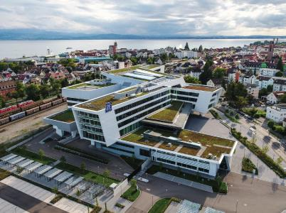 Das ZF Forum in Friedrichshafen ist Hauptsitz der ZF Friedrichshafen AG, Bildnachweis: ZF