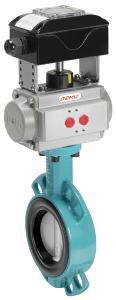 GEMÜ 481 Victoria butterfly valve with GEMÜ LSC electrical position indicator fitted