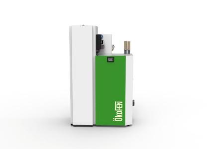 """BU: ÖkoFEN erweitert seine plug & heat Produktpalette um den Kombiwärmespeicher """"Smartlink"""". In den Wärmespeicher integriert sind Frischwassermodul, Pufferlade- und Heizkreisgruppen. 360 Liter Fassungsvermögen sorgen für komfortable Warmwasserbereitstellung / Bild: ÖkoFEN"""
