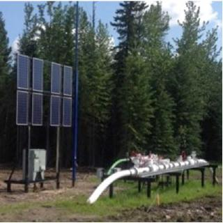 Pipeline application with EFOY Pro Hybrid Cabinet
