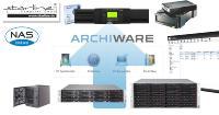 Archiware P5 befähigt die robusten FreeNAS-Systeme von Starline (untere Reihe) nun auch zu Backups auf Tapes, externe Laufwerke und in die Cloud.