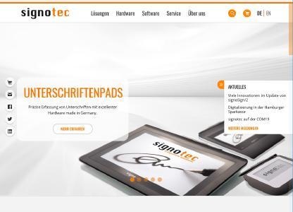 signotec präsentiert neuen Internetauftritt