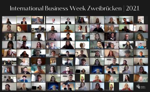 Die Teilnehmenden und Organisatoren der International Business Week 2021