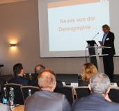 Prof. Dr. Bernd Raffelhüschen referierte als Keynote-Speaker über die Demografie und die Nachfolgeproblematik / Foto: HWK FR
