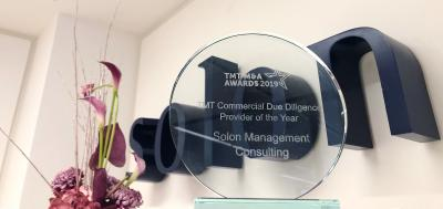 Solon Management Consulting is TMT Due Diligence Adviser of the Year 2019