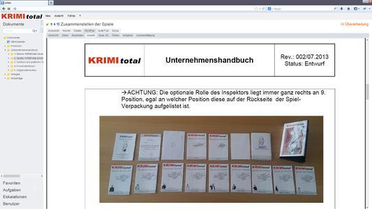 KRIMI total Unternehmenshandbuch in roXtra