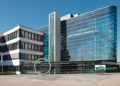 Das Wilo Firmengebäude in Dortmund.