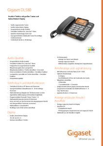 Datenblatt Gigaset DL580