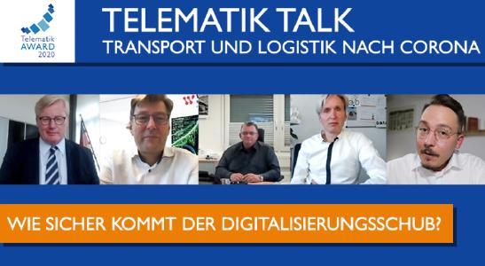 """Der #TelematikTalk greift das Thema """"Transport und Logistik nach Corona"""" auf. Bild: Telematik-Markt.de"""