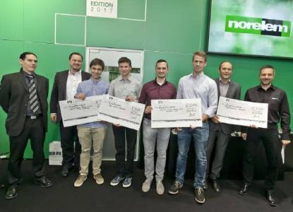 Strahlende Sieger auf der Preisverleihung des Engineering Newcomers 2016
