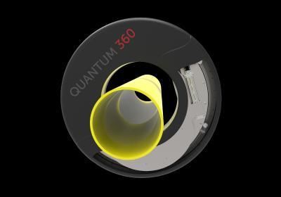 iNOEX Quantum 360 ist das erste industrielle Terahertz-Wanddickenmesssystem für die Extrusion von Kunststoffrohren zur Absolutmessung der Wanddicke (Mit freundlicher Genehmigung der iNOEX GmbH)