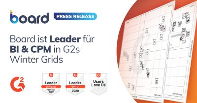 Board wurde zum Leader in Business Intelligence und Corporate Performance Management ernannt